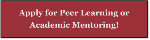 Apply for Peer Learning or Academic Mentoring