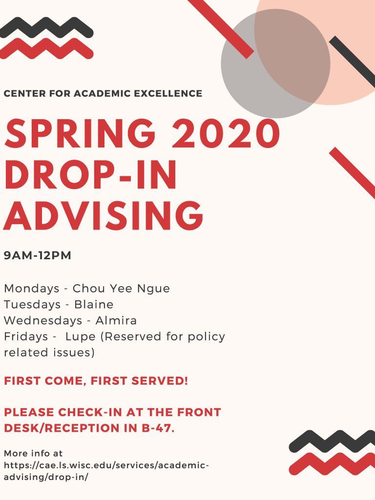 drop in advising